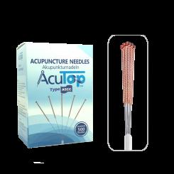 AcuTop® Akupunkturnadeln A5CC, Kupferwendelgriff, silikonisiert, 500 Stk. 0.18 x 13 [mm]