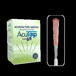 AcuTop® Akupunkturnadeln A5NC, Kupfergriff, unbeschichtet, 500 Stk. 0.20 x 15 [mm]