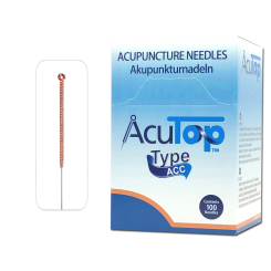 AcuTop® Akupunkturnadeln Typ ACC, Kupfergriff, beschichtet, 100 Stk. 0,16 x 15 mm