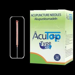 AcuTop® Akupunkturnadeln Typ ANC, Kupfergriff, unbeschichtet, 100 Stk. 0,18 x 7 mm