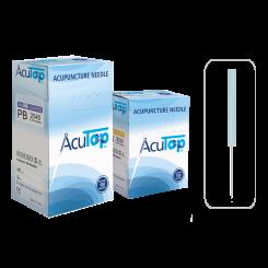 AcuTop® Akupunkturnadeln Typ PB, Kunststoffgriff, beschichtet, 100 Stk. 0.16 x 15 [mm]