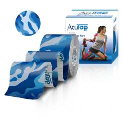 AcuTop® Design Kinesiology Tape Blau-Camo