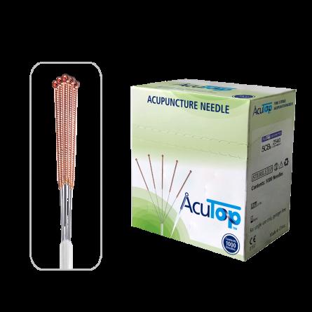 AcuTop® Akupunkturnadeln Typ 5CBs, Kupfergriff, unbeschichtet, 1000 Stk.