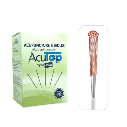 AcuTop® Akupunkturnadeln A5NC, Kupfergriff, unbeschichtet, 500 Stk. 0.30 x 25 [mm]