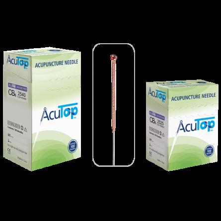 AcuTop® Akupunkturnadeln Typ CBs, Kupfergriff, unbeschichtet, 100 Stk.