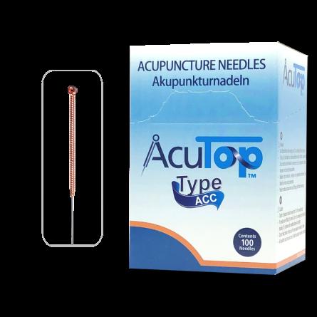 AcuTop® Akupunkturnadeln Typ ACC, Kupfergriff, beschichtet, 100 Stk.