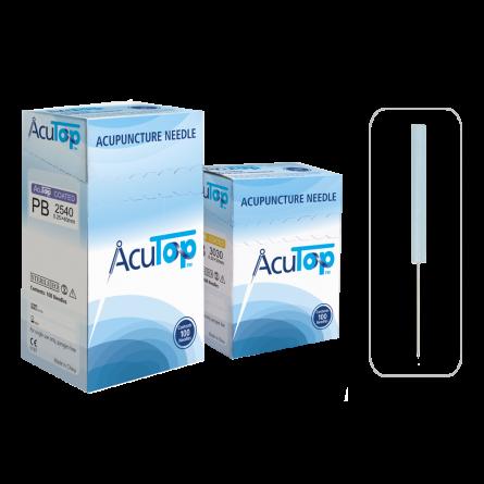 AcuTop® Akupunkturnadeln Typ PB, Kunststoffgriff, beschichtet, 100 Stk.