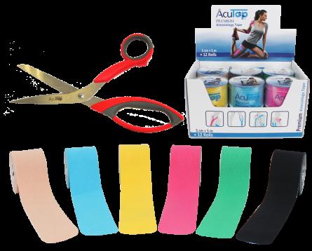 AcuTop® Premium Tape Starter Set: 12 Rollen plus AcuTop Tape Schere