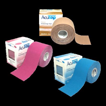 AcuTop® Classic Kinesiology Tape, 3 Rollen Starter Set
