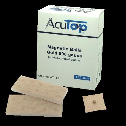 AcuTop® Magnetische Ohrkugeln, vergoldet, 800 Gauss
